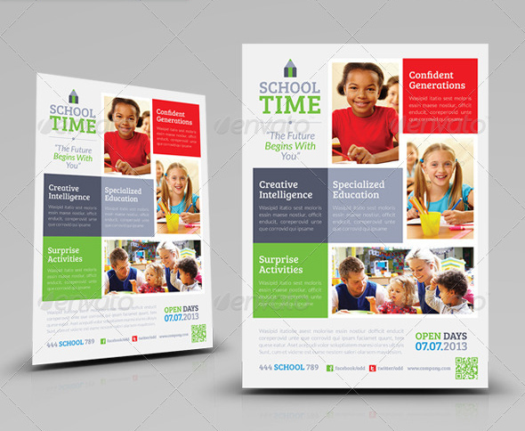 Kindergarten Flyer Template Pasoevolistco   School Brochure Template