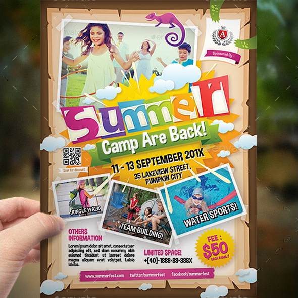 Best Kindergarten Elementary School And Summer Camp Flyer