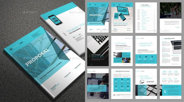 indesign proposal template gallery template design free download